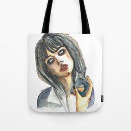 Edie Campbell Tote Bag