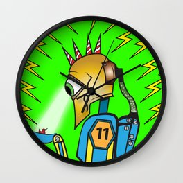 Invader of Earth Wall Clock