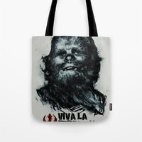 che Tote Bags featuring CHE-wbacca by Carlos Rocafort
