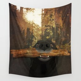 Playful Labrador Wall Tapestry