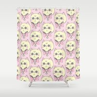 meow Shower Curtains featuring Meow by lOll3