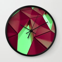 Dark Red & Kryptonite by Brian Vegas Wall Clock