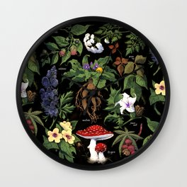 Poison Plants Wall Clock