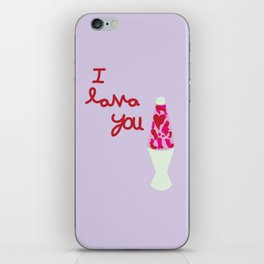 I Lava You iPhone Skin