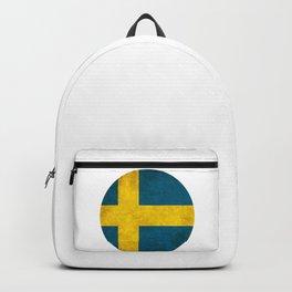 Sweden flag, circle Backpack