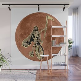 Death on a Penny Farthing Wall Mural
