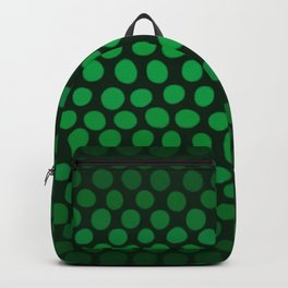 Emerald Green Ombre Dots Backpack