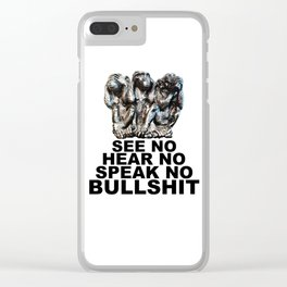 NO BULLSHIT 2 Clear iPhone Case
