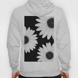 Black and White Daisies Hoody