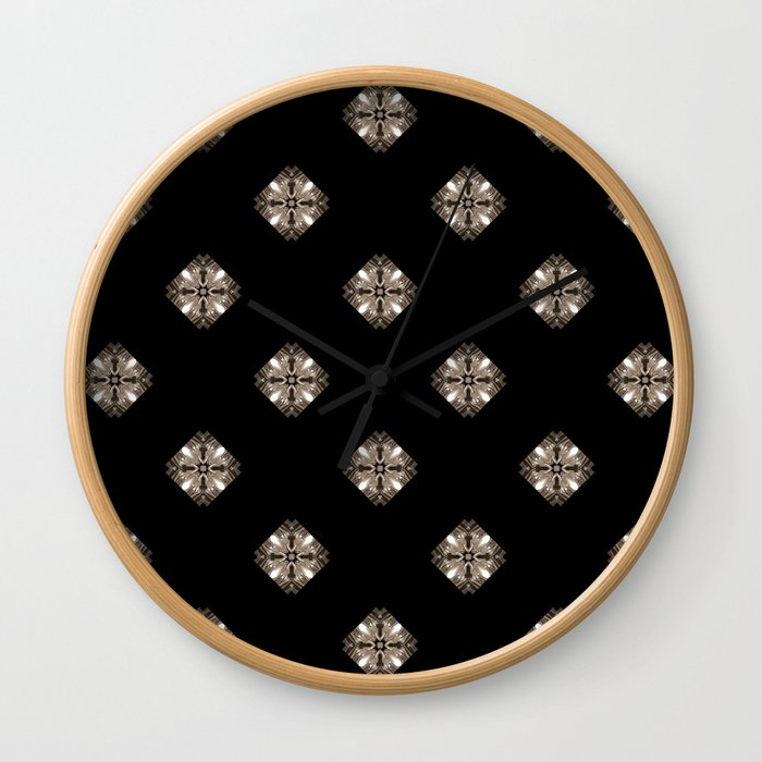 Simulated illuminated diamond pattern Wall Clock