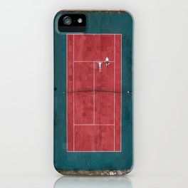 Tennis court, view of drone iPhone Case