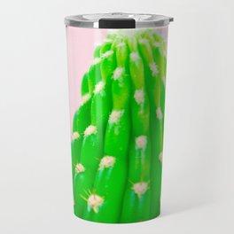 Cactus Photography Modern Minimalist blush pink cactus I Travel Mug