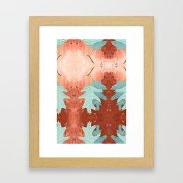 Turquoise Leaves Framed Art Print