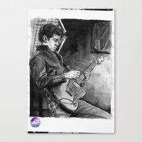 alex turner Canvas Prints featuring Alex Turner   by vooce & kat