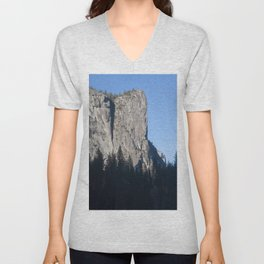 Mountain and Trees in the Sunshine Unisex V-Neck