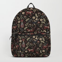 Cute cats. Brown pattern Backpack