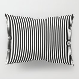 Simple Black & White Licorice Cabana Stripe Pillow Sham