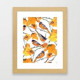 Birds in Autumn Framed Art Print
