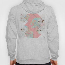 Abstract Blush Geometric Peonies Flowers Design Hoody