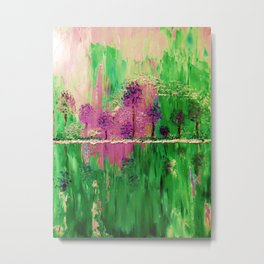 TREES Enchanted Purple Forest Oil Painting Metal Print