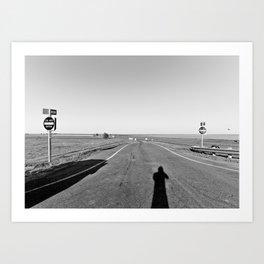 Shadow Road Art Print