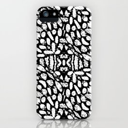 Black and White Grunge Abstract Pattern iPhone Case