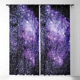 Galaxy Stars Violet Blue Blackout Curtain