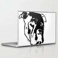 pitbull Laptop & iPad Skins featuring COACH - BLACK by Kirk Scott