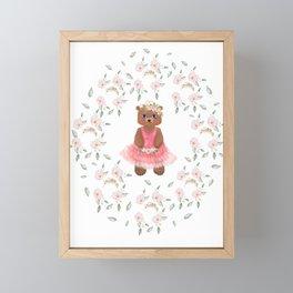 Princess bear Framed Mini Art Print
