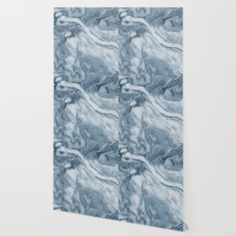 Cipollino Azzurro blue marble Wallpaper