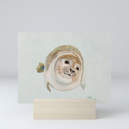 Sea Lion Watercolor Mini Art Print