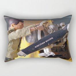 Airplane Mechanic Rectangular Pillow