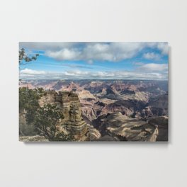Grand Canyon National Park on a Cloudy Day Metal Print
