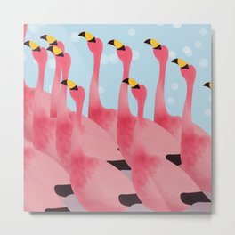 WHAT HAPPEN IF ANIMALS WEAR FLAMINGO'S OUTFIT.... Metal Print