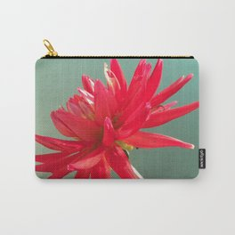 Red Imperfect Flower Carry-All Pouch
