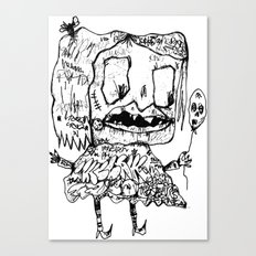 Weird Girl Canvas Print