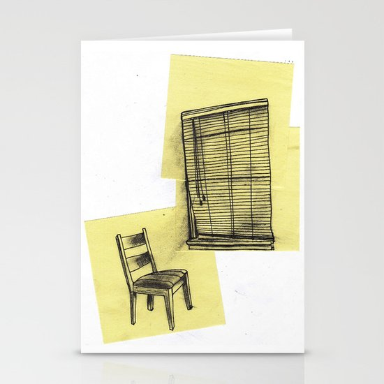 invisible man looking out of the window Stationery Cards