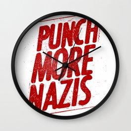 Punch more nazis Wall Clock