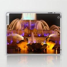 Buckingham Fountain at Night Laptop & iPad Skin