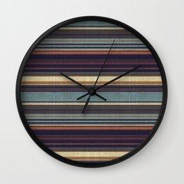 """Blue lines burlap"" Wall Clock"