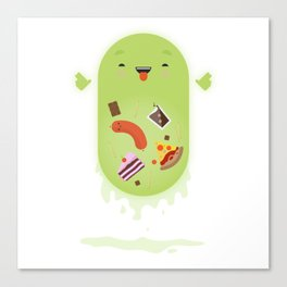 Ghostbusters - Slimer - You'll Ruin Your Dinner. Canvas Print