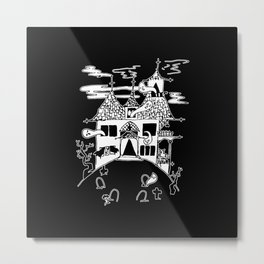 ▴ haunted house ▴ Metal Print