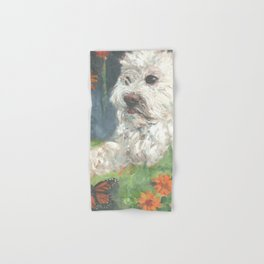 Astro with Floating Flowers Hand & Bath Towel