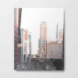 Sunset Train Metal Print