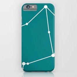 Libra (White & Teal) iPhone Case