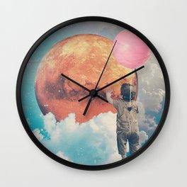 Balloon, Baby and Moon Wall Clock