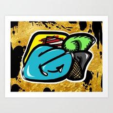 Digital Abstract Graffiti #1 Art Print