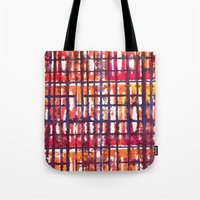 plaid Tote Bags featuring Plaid by Selkiesong