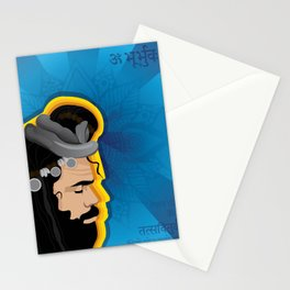 Boho Indian Sage Illustration Stationery Cards