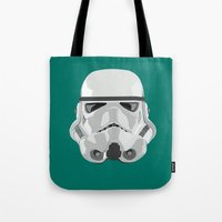 storm trooper Tote Bags featuring Storm Trooper by Inza Vita